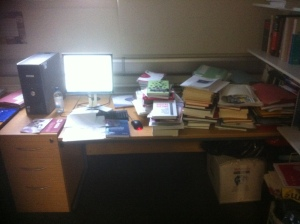 The author's desk