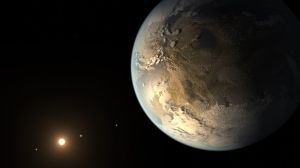 Artist's impression of planet Kepler-186f; a first step toward telepresence?