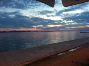 The famous Zadar sunset