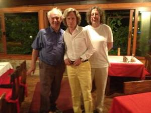 Tefko Saracevic, Blaise Cronin and the author enjoying LIDA