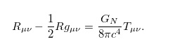 Einstein's equation
