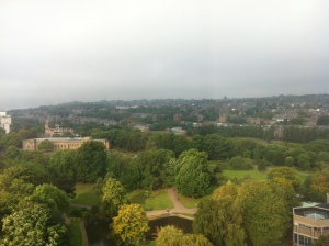 The rather distracting view over Sheffield's suburbs from the conference venue