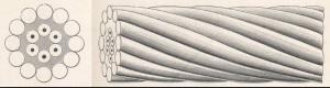 Atlantic cable, encased in gutta percha (Atlantic Cable website)